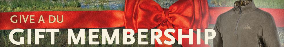 Gift Membership: DU Habitat Camo Fleece Pullover