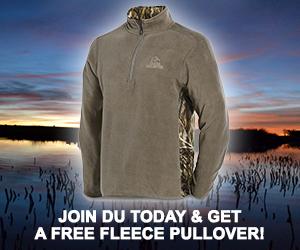 FREE DU Habitat Camo Fleece when you join DU